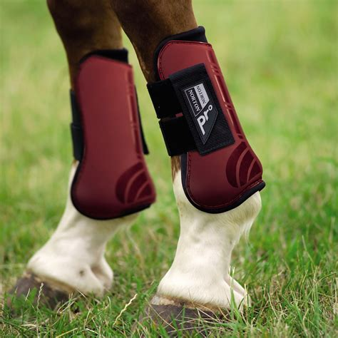 boots horse fetlock tendon pony shoes protection equestrian shock absorbing burgundy