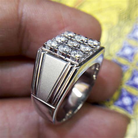 jual cincin pria berlian eropa 0347 ring palladium cincin dan batu batu permata di lapak
