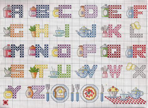 point de croix cuisine alphabet cuisine simple toutes les grilles com grilles