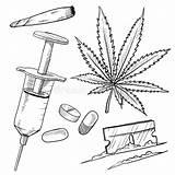 Drugs Drogas Drawing Illegale Illegal Schets Dibujos Dibujo Ilegales Droghe Vectorial Onwettige Trekken Clipart Lhfgraphics Dissipare Illegali Delle Sketch Stockillustratie sketch template