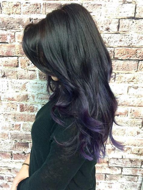 #blackhairbalayage in 2020 Hair styles Hair Purple