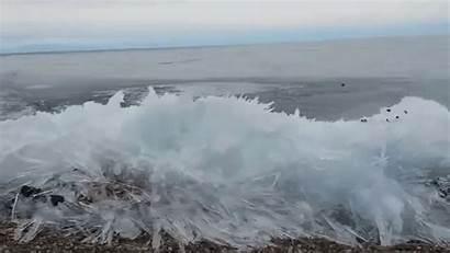Ombak Baikal Mata Membeku Melihat Depan Lake