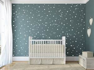Star vinyl wall decal 148 silver stars star wall decal art for Star wall decals