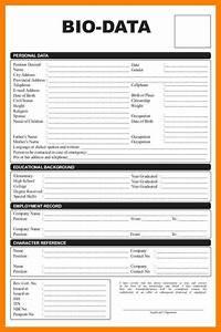 4 biodata format for job application emt resume With biodata format for job application