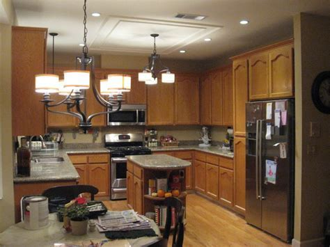 Awesome Kitchen : Replace fluorescent light fixture in
