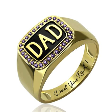 18k Gold Plated Men's Diamond Dad Ring Father's Day Gift. Mens Flexible Wedding Rings. Antique Gold Wedding Rings. 0.34 Engagement Rings. Evil Rings. Emerald Stone Engagement Rings. Double Band Rings. Aniversary Rings. Marquise Engagement Rings