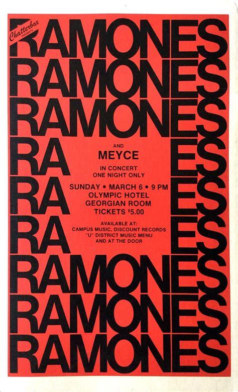 Ramones - Rare 1977 Seattle Cardboard Boxing-Style Concert ...
