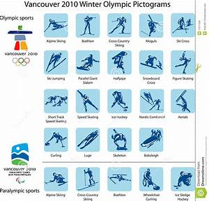 Sport pictograms and logos editorial stock photo ...