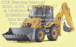 Jcb 3cx 4cx 214e 214 215 217 Service Manual Backhoe Loader