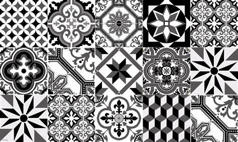 sticker faience cuisine tapis vinyle carreaux de ciment ginette noir
