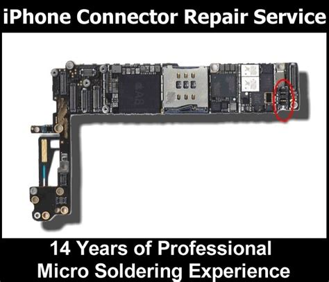 apple iphone  motherboard battery fpc connector