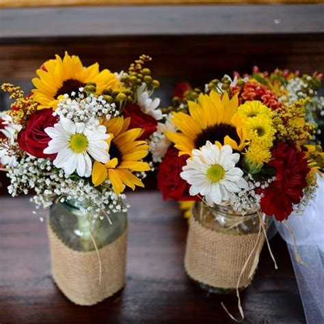 jars burlap and fall colors my wedding theme in a