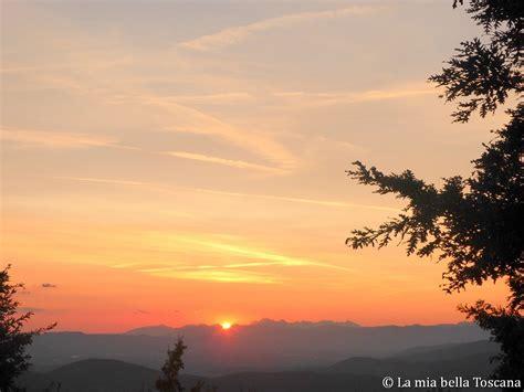 dalla terrazza il tramonto a vallombrosa dalla terrazza saltino