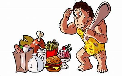 Caveman Clipart Paleo Diet Eating Confused Jacked