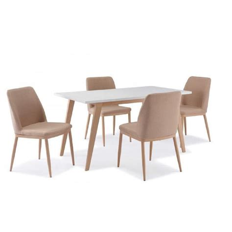 table a manger avec chaise table 4 chaises scandinave yeta achat vente table a