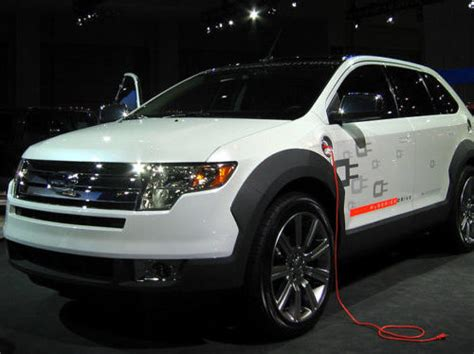 ford unveils  electric suv sees ev sales surpassing