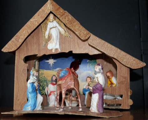 Home Interior Nativity Scene : Vintage Nativity Scene Baby Jesus Christmas By
