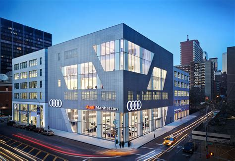 audi dealership exterior audi manhattan architect magazine cr studio new york