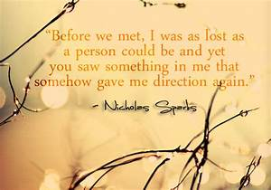 Nicholas Sparks Relationship Quotes. QuotesGram