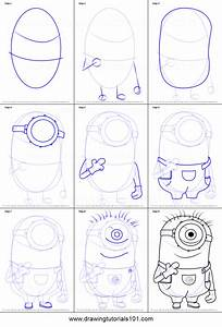 How to Draw Stuart from Minions printable step by step ...