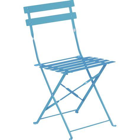chaise de jardin bleu chaise de jardin en acier flore couleur bleu leroy merlin