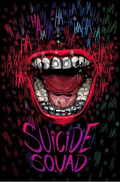 Suicide Squad Poster Alternative Crisvector Joker Mouth