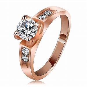 fashion brand free shipping asian wedding rings rose gold With asian wedding rings