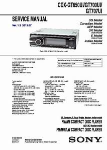 Sony Cdx Gt55uiw Wiring Diagram