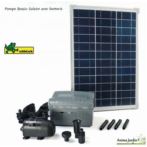 pompe 224 eau panneau solaire pour bassin solarmax 1000 ubbink