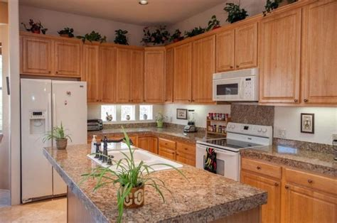 white appliances with oak cabinets kitchen oak kitchen cabinets with granite countertops