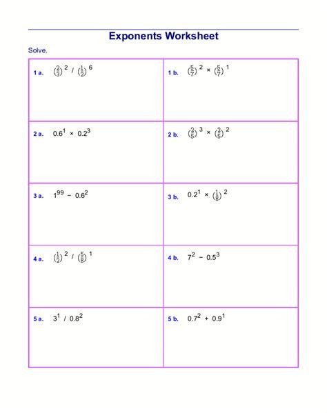 multiplying decimals  powers   worksheets worksheet