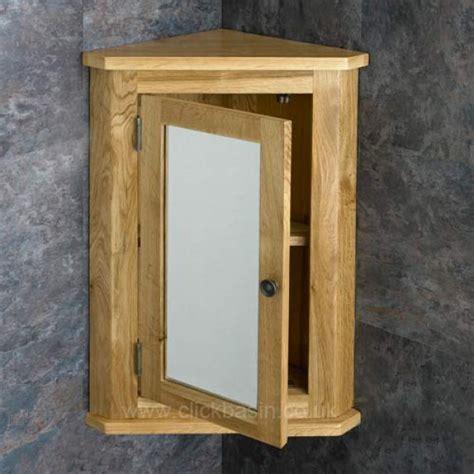 solid oak wall mounted tall corner 60cm tall bathroom