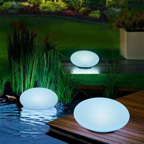 pro idee solarleuchten led solar gartenleuchte 30 cm oval kaufen
