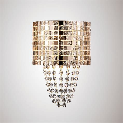 diyas camden single light wall fitting in rose gold mosaic