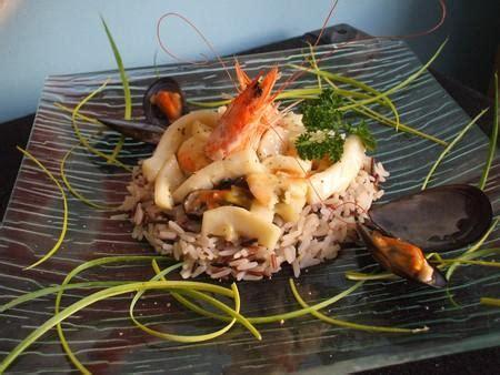 cuisiner des seiches recette méli mélo de fruits de mer et riz sauvage pour 6 à 8 750g