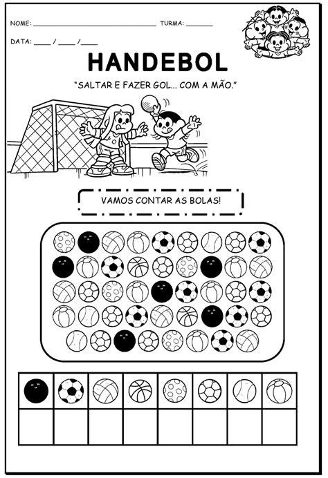 Kleurplaat Handbal by Educar Atividades Olimp 237 Adas Modalidades
