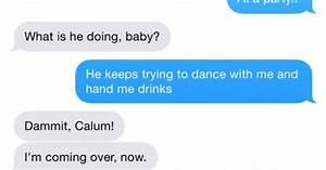 protective boyfriend texts. Really cute but really ...