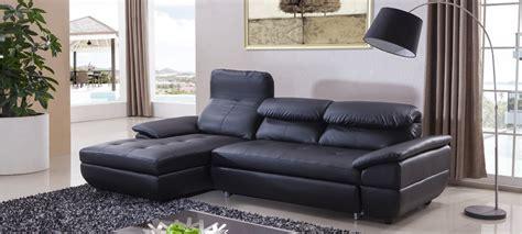 canape noir but canapé d 39 angle gauche convertible cuir noir mezzio