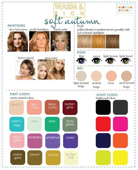 soft autumn color palette color analysis 3 degrees of warm rich