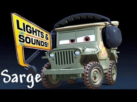 Cars 2 Sarge by Race Team Sarge With Headset Lights And Sounds Diecast