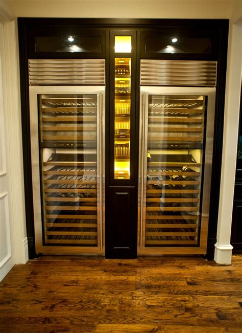 thermador wine columns  custom cigar humidor adorned