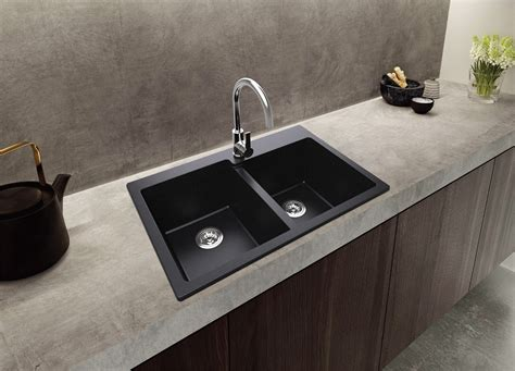 composite granite kitchen sinks ruvati 33 x 22 inch epigranite dual mount granite 5659