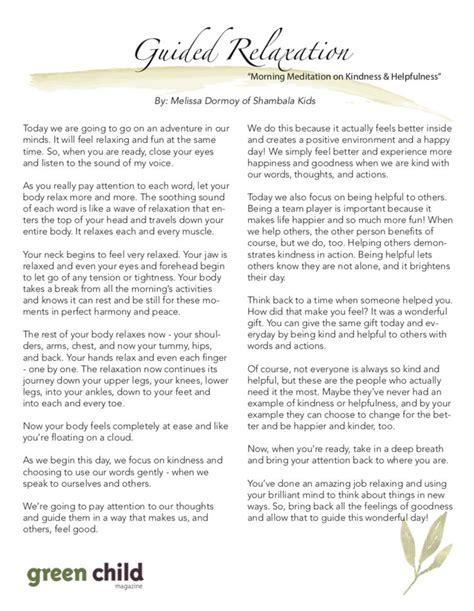 Guided Meditation Script Morning Meditation On Kindness