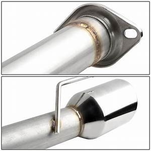 """96-04 Ford Mustang GT V8 SN95 Stainless Steel Dual 4"""" Muffler Tip Catback Exhaust System"""