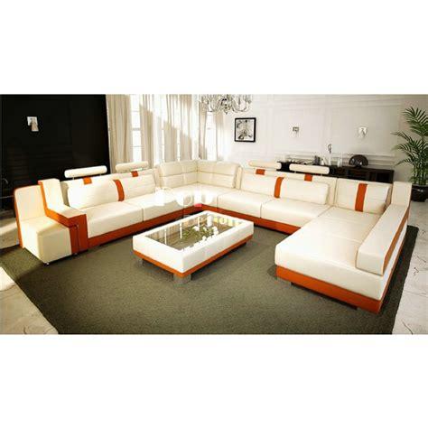 canapé u canapé d 39 angle panoramique en cuir pop design fr