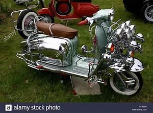 Classic Chic Italian Lambretta Motor Scooter 1960's Stock ...