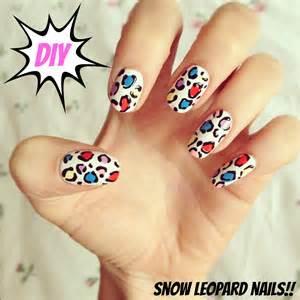 Diy snow leopard nail art burkatron