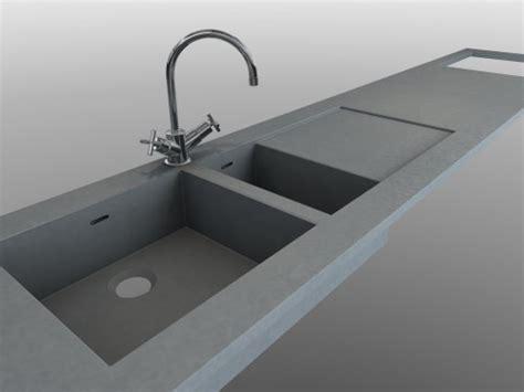 plan de travail cuisine avec evier integre evier béton intégré au plan de travail en beton balian beton atelier