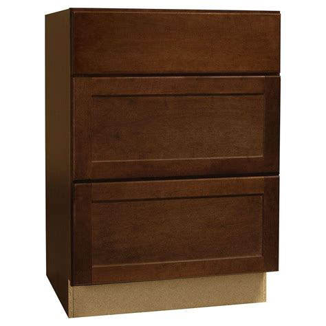 Cabinet Drawer Glides by Hton Bay Assembled 24x34 5x24 In Shaker Drawer Base