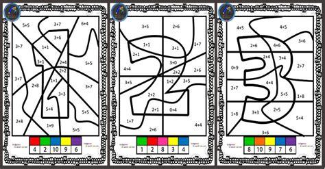el numero escondido colorear por sumas imagenes